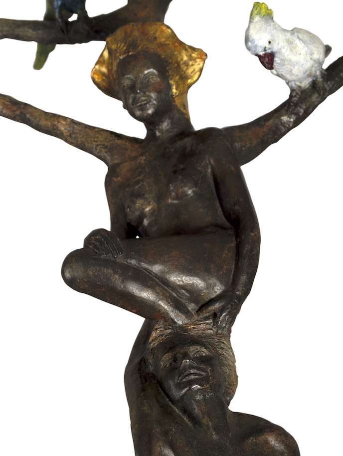 Oiseaux, bronze, birds, couple, bordeaux, harmonie, équilibre, homme, femme, bronze animalier, perruche, or, gold