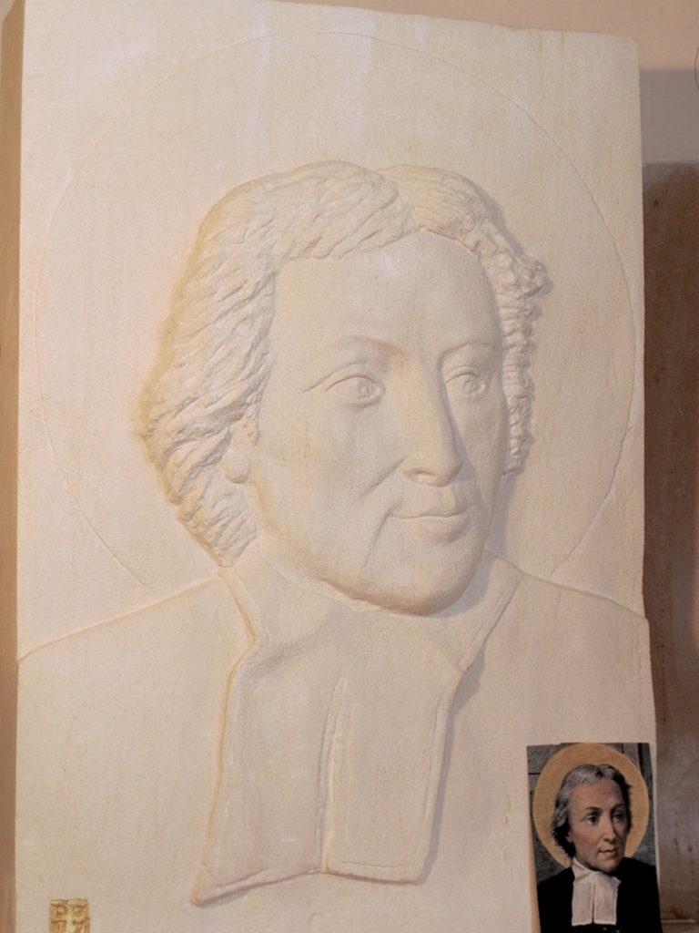 pierre-sculpture-portrait-jean-baptiste-de la salle-